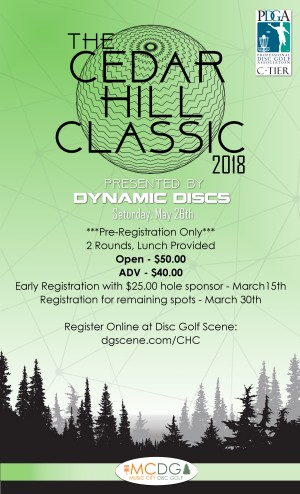 Cedar Hill Classic Presented by Dynamic Discs graphic