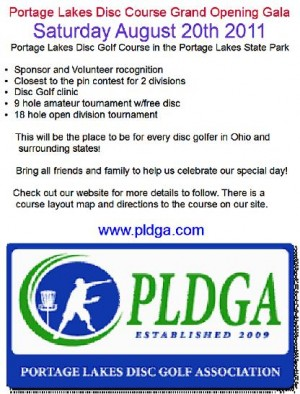 Portage Lakes Grand Opening Tournament graphic