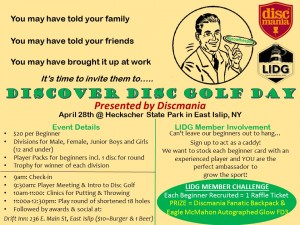 Discover Disc Golf Day Presented by Discmania graphic