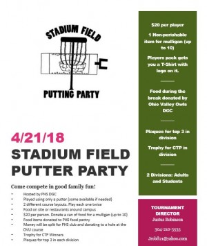 Stadium Field Putting Party graphic