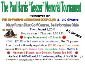 "The Paul Harris ""Geezer"" Memorial Tournament graphic"