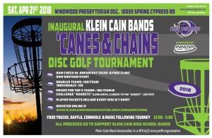 Inaugural 'Canes & Chains Disc Golf Tournament graphic