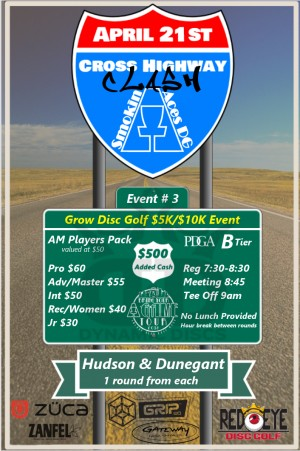 Smokin Aces presents Cross Highway Clash: Sponsored by Dynamic Discs - GDG $5K/$10K event graphic
