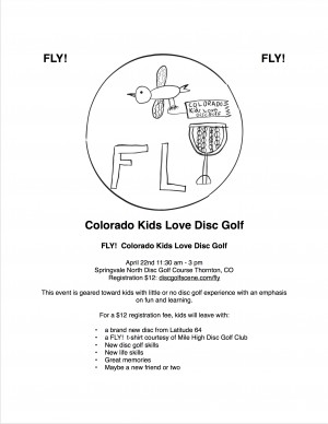 Fly! Colorado Kids Love Disc Golf graphic