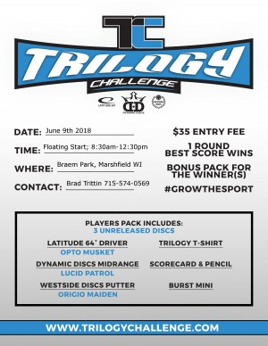 Nailed It Disc Golf Presents Trilogy Challenge 2018 graphic