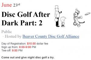Disc Golf After Dark- Part 2 graphic
