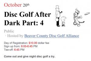 Disc Golf After Dark- Part 4 graphic