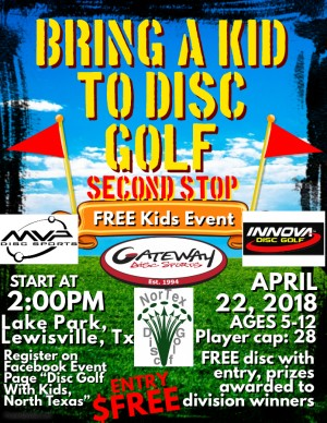Bring A Kid To Disc Golf, Second Stop graphic
