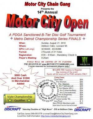 Motor City Open graphic