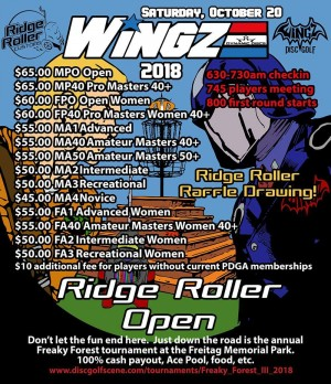 RIDGE ROLLER OPEN presented by WINGZ/RIDGE ROLLER CUSTOMS graphic