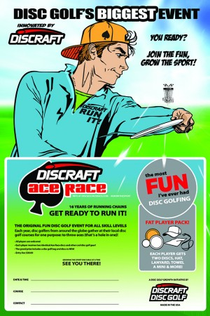 Livermor disc golf first ace race graphic