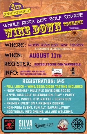 Whale Rock Wine Down Tourney- 4th Annual graphic