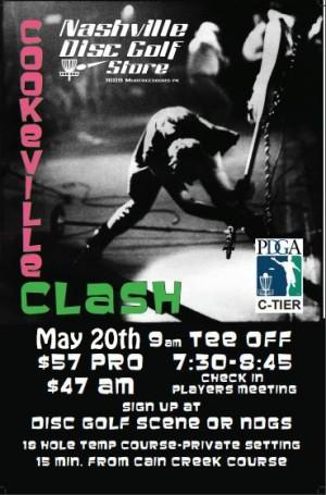 Cookeville Clash Nashville Disc Golf Store Tour Series graphic