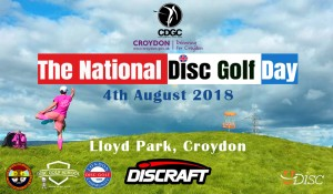 "CROYDON does ""The National Disc Golf Day 2018"" graphic"