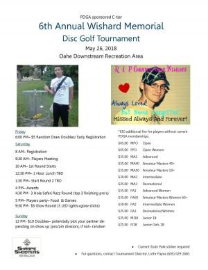 6th Annual Wishard Memorial Disc Golf Tournament graphic