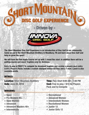 Short Mountain Disc Golf Experience Driven by INNOVA graphic
