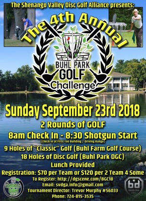 4th Annual Buhl Park Golf Challenge graphic