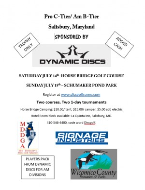 "Horse Bridge Golf Course ""Sponsored by Dynamic Discs"" graphic"