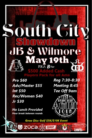 Smokin Aces presents South City Showdown: Sponsored by Dynamic Discs - GDG $5K/$10K event graphic