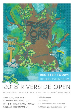 Riverside Open Presented By Pierce County Disc Golf Players Association graphic