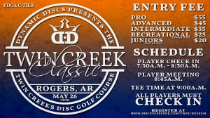 Dynamic Discs Presents:The Twin Creeks Classic graphic