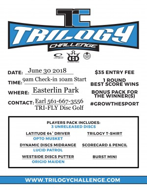 Trilogy Challenge at Easterlin Park by TRI-FLY DG graphic