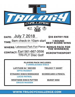 Trilogy Challenge at Lakewood Park by TRI-FLY DG graphic