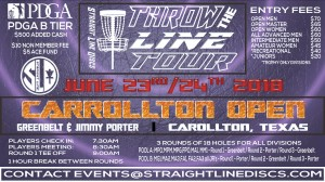 Carrollton Open - Throw the Line Tour Event graphic