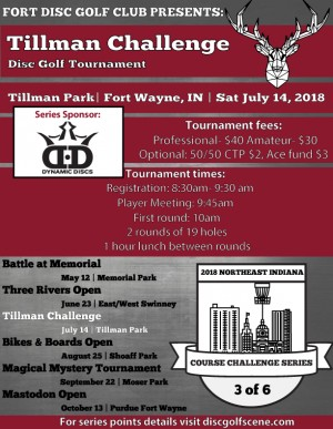 Tillman Challenge- Sponsored by Dynamic Discs graphic
