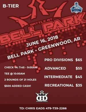 10th Annual Battle at Bell Park presented by Dynamic Discs graphic