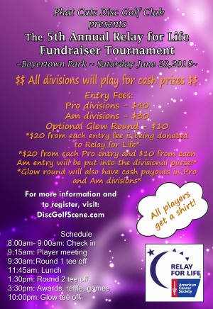 5th Annual Relay for Life Fundraiser graphic