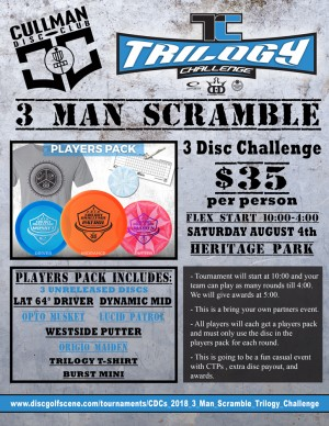 CDC's 2018 3 Man Scramble Trilogy Challenge graphic