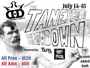 The Taneycomo Throwdown sponsored by Dynamic Discs graphic