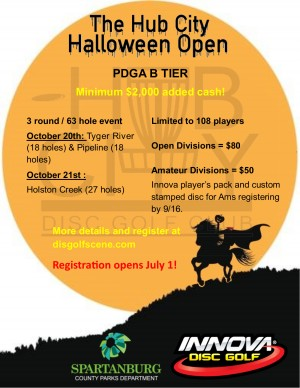 The Hub City Halloween Open driven by Innova graphic