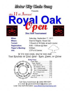11th Annual Royal Oak Open graphic