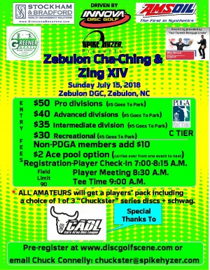 Spike Hyzer's: Zebulon Cha-Ching & Zing XIV Driven By Innova graphic