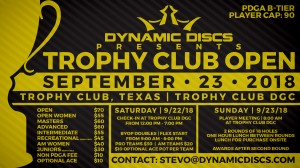 Dynamic Discs Presents the Trophy Club Open graphic