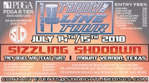 Trey Deuce Sizzling Showdown - Throw the Line Tour Event graphic
