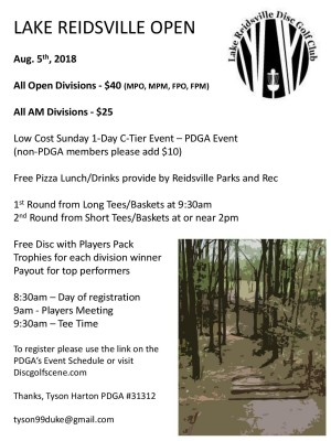 10th Annual Lake Reidsville Open Powered by Innova graphic
