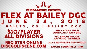 Flex at Bailey presented by Dynamic Discs graphic