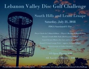 Lebanon Valley Disc Golf Challenge graphic