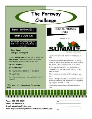 Foreway Challenge graphic
