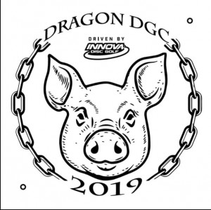 "Dragon DGC First Tags 2019 Year of the Pig ""Driven by Innova"" graphic"