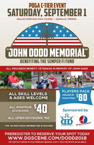 2nd Annual John Dodd Memorial benefiting the Semper Fi Fund graphic