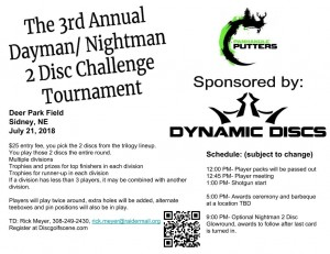 3rd Annual Dynamic Discs Dayman/ Nightman 2 Disc Challenge graphic
