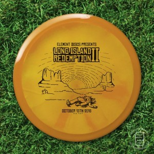 Element Discs' Long Island Redemption II sponsored by Dynamic Discs graphic