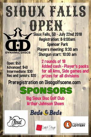 Sioux Falls Open: Sponsored by Dynamic Discs graphic