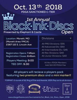 1st Black Ink Discs Open graphic