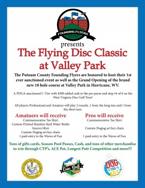 Founding Flyers Present The Innaugural Putnam County Flying Disc Classic at Valley Park DGC graphic