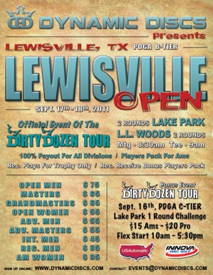 Lewisville Open presented by Dynamic Discs graphic